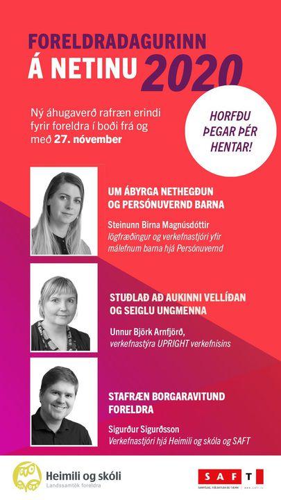 Fréttamynd - Foreldradagur Heimilis og skóla föstudaginn 27.nóvember 2020