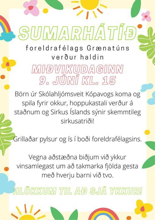 Fréttamynd - Sumarhátið foreldrafélagsins