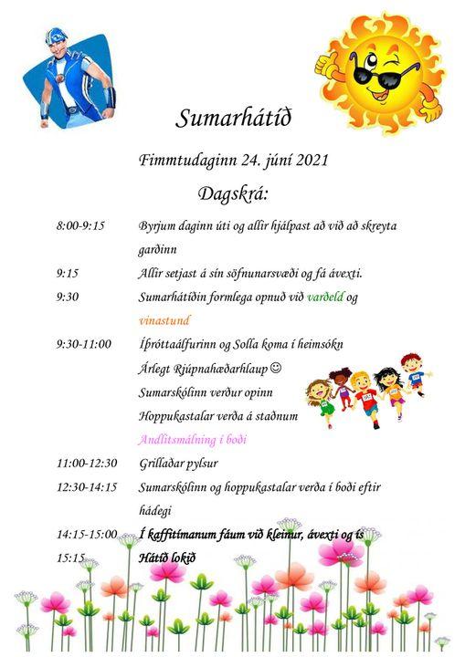 Fréttamynd - Sumarhátíð leikskólans 24.júní 2021